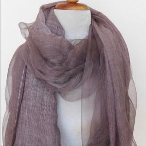 Accessories - New in bag Silk & Cotton Plum colored Scarf